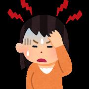 頭痛のする女性